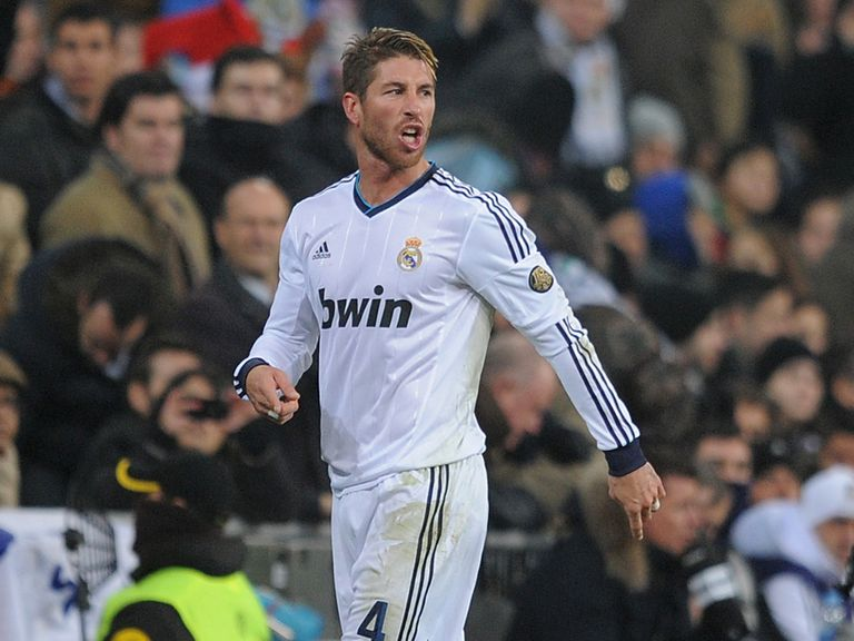 Sergio Ramos: Sent off against Celta Vigo