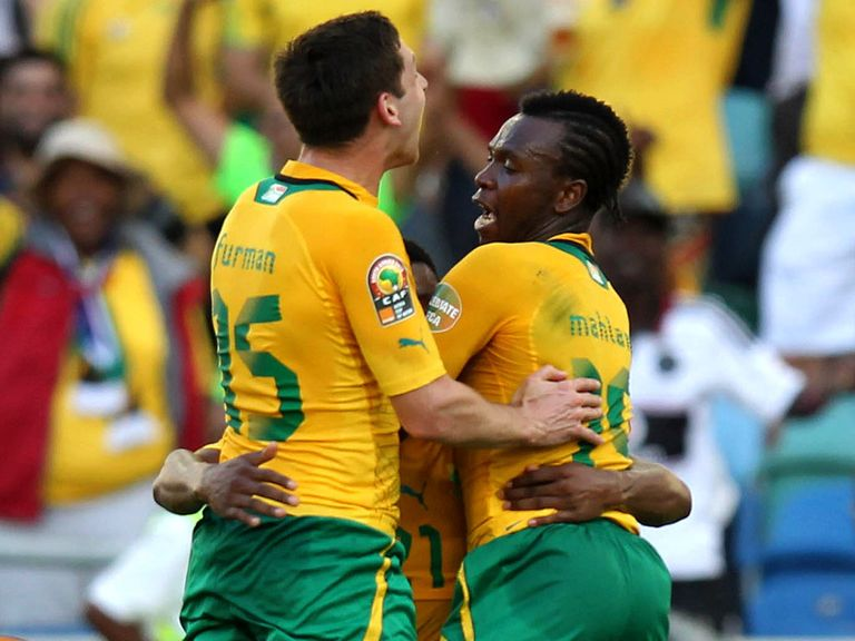 South Africa celebrate against Angola