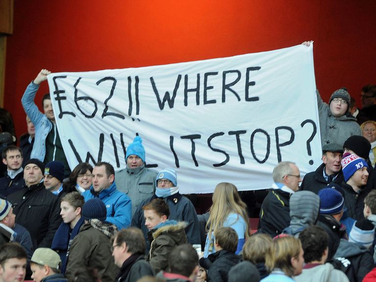 Man City fans had to pay £62 to watch their side at Arsenal