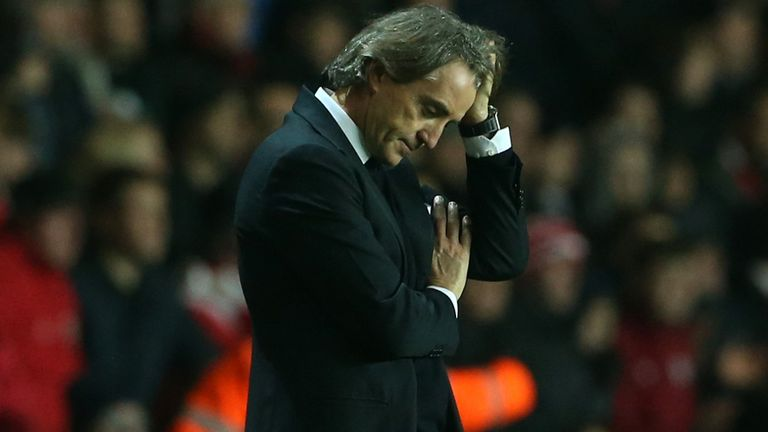 Roberto Mancini: Manchester City boss set to wield the axe