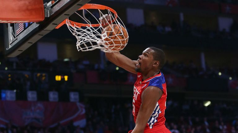 Kevin Durant: Top scored with 30 points for the West