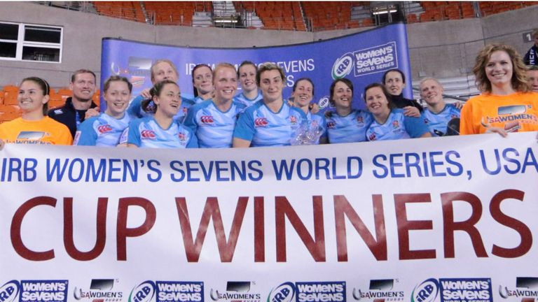 England Women celebrate their success (Pic: IRB/Paul Rudman)