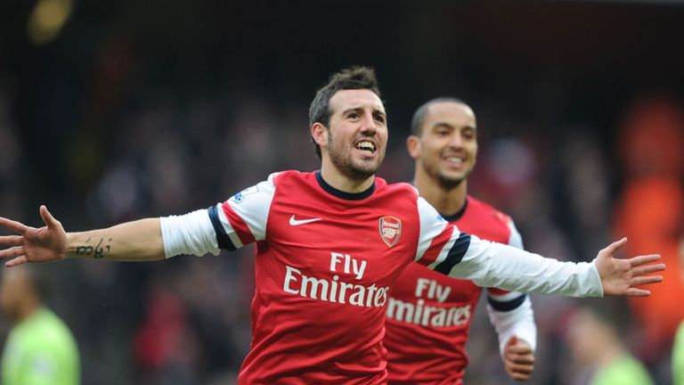 Santi Cazorla: Arsenal's Spaniard scored and starred in November's derby win over Tottenham