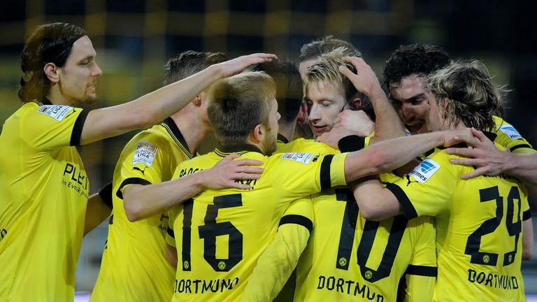 Borussia Dortmund: Celebrate Marco Reus goal against Eintracht Frankfurt