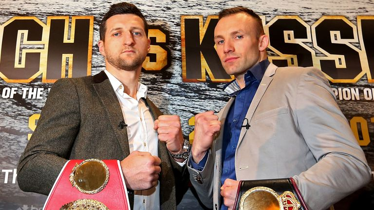 Mikkel Kessler (R) is looking forward to another physical fight with Carl Froch