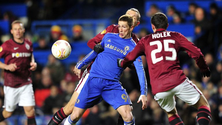 Fernando Torres: Struggled against Sparta Prague