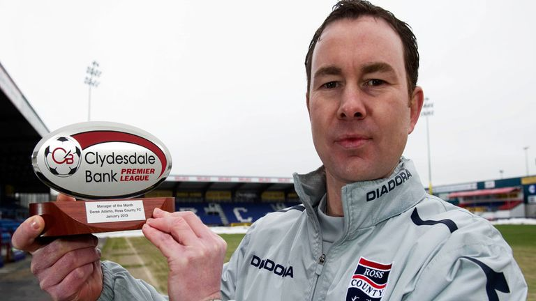 Derek Adams: SPL manager of the month for January