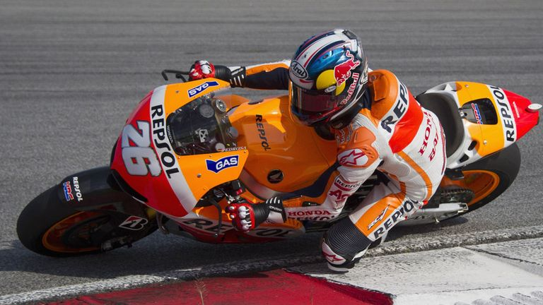 Dani Pedrosa: Happy with his Honda's performance.