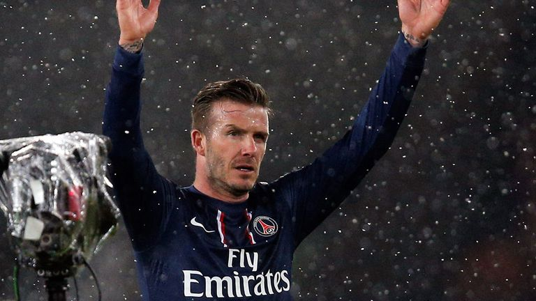 David Beckham: Made Ligue 1 debut for PSG on Sunday