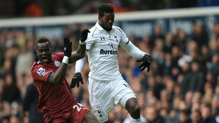 Emmanuel Adebayor: Will start for Tottenham against Lyon