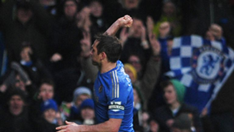 Frank Lampard: Chelsea midfielder has now scored 199 goals for the club