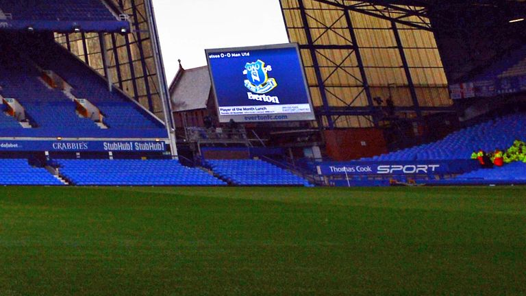 Goodison Park: Will feature updated Everton branding next season