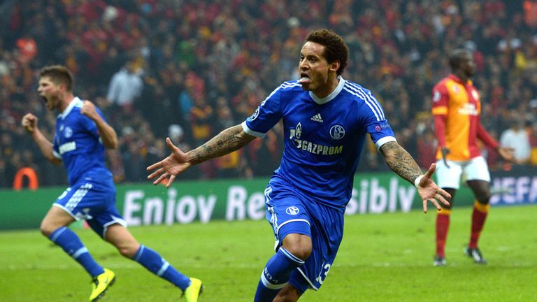 Jermaine Jones: Celebrates scoring Schalke's equaliser