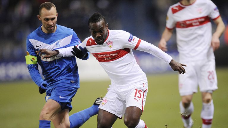 Arthur Boka: On target for Stuttgart against Genk
