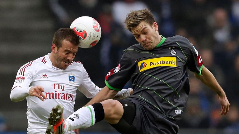 Raphael van der Vaart (l): Unhappy with the club's current position