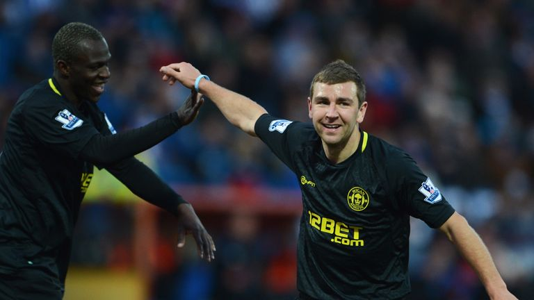 James McArthur (r): On international duty with Scotland ahead of Wigan's game with Norwich