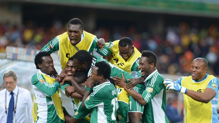Nigeria team: Celebrate victory over favourites Ivory Coast
