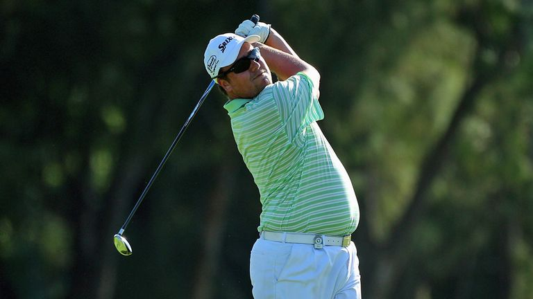Jaco in action in last year's Africa Open where he was second at halfway