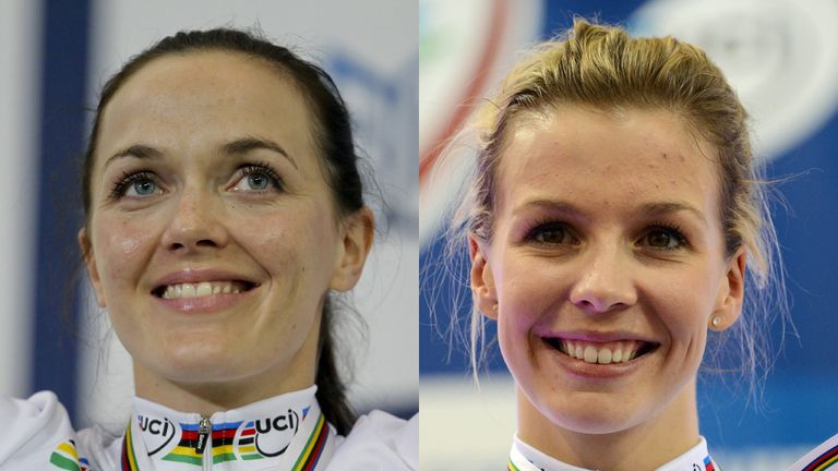 Becky James, right, succeeded Victoria Pendleton as world sprint champion