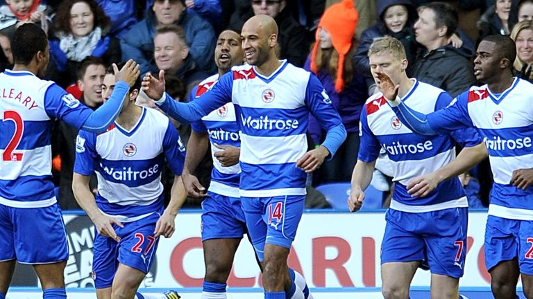 Jimmy Kebe: Reading's matchwinner celebrates scoring