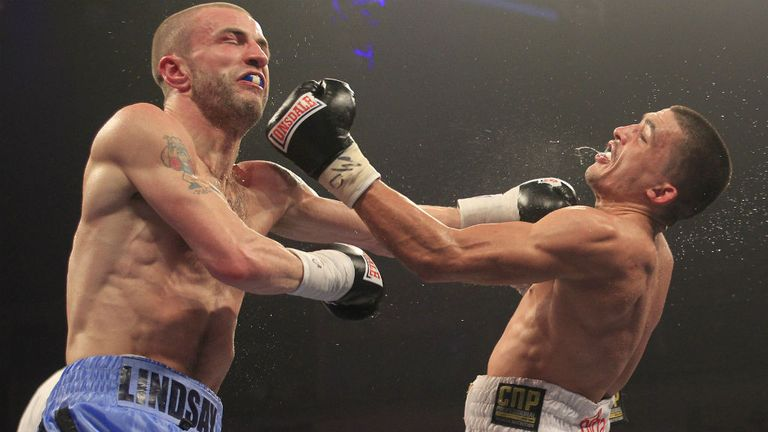 Lee Selby (right): retained his titles with a points victory (photo courtesy of Lawrence Lustig)