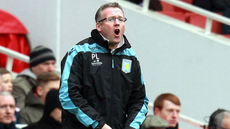 Paul Lambert: Happy with 'vibrancy' of Aston Villa's form