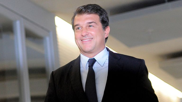 Joan Laporta: Moved to deny rumours that he is working to help Man City sign Neymar