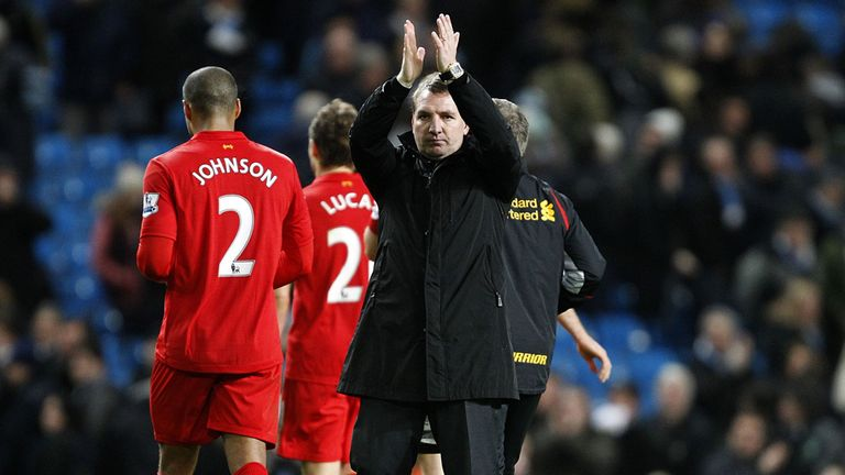 Brendan Rodgers: Delighted with his team's efforts in Manchester