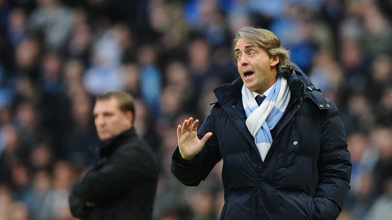 Roberto Mancini: Manchester City are nine points behind Manchester United with 13 games remaining