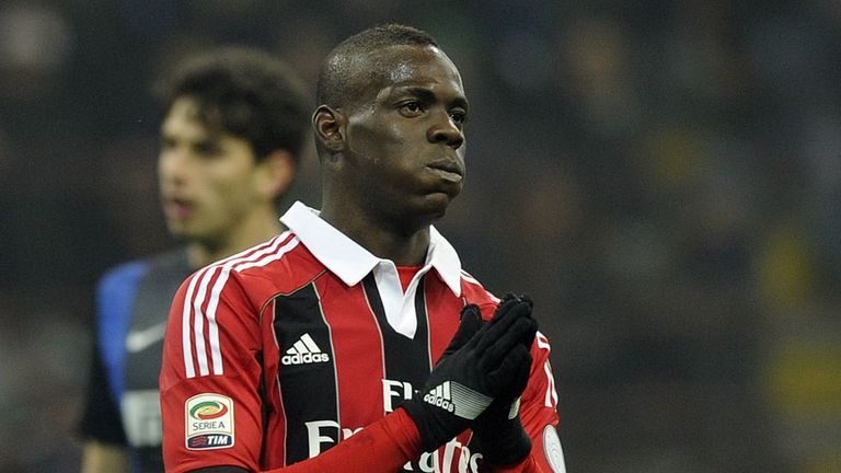 Mario Balotelli: Was whistled at by Inter fans.