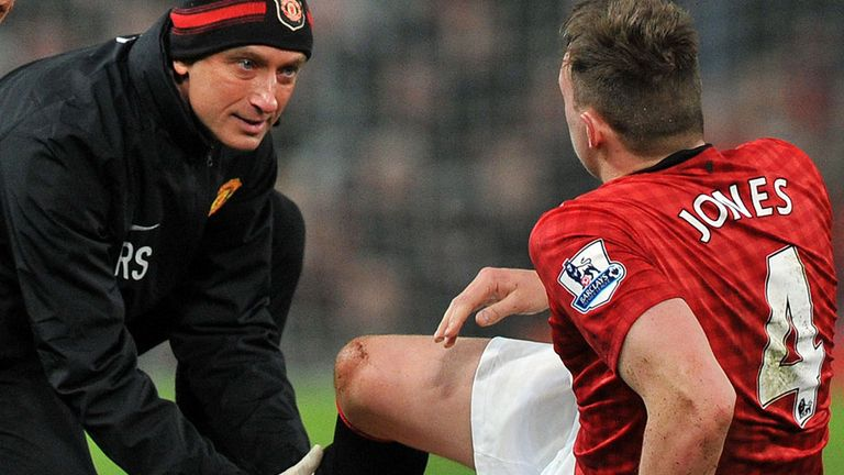 Phil Jones: The injured United man could miss Champions League second leg clash against Real Madrid