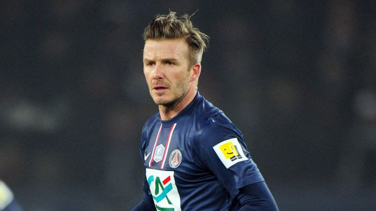 David Beckham: The former England captain played 90 minutes against St Etienne at the weekend
