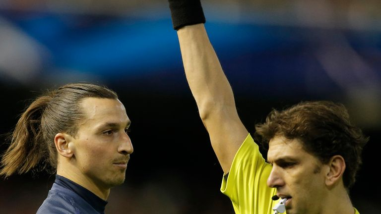 Zlatan Ibrahimovic: Handed an extension to his ban following challenge on Valencia's Andres Guardado