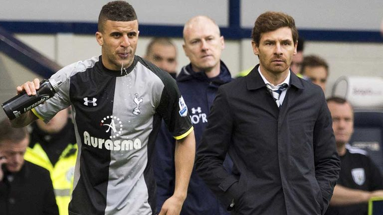 Kyle Walker (left) and Andre Villas-Boas (right) after the spitting incident