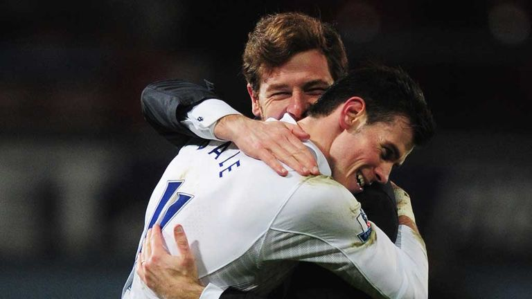 Andre Villas-Boas and Gareth Bale: The winger has performed superbly for Tottenham this season