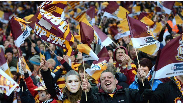 Bradford fans will have to wait a few months before they can celebrate their cup exploits
