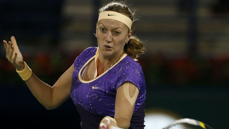 Petra Kvitova: broke four times in winning the first set against the defending champion