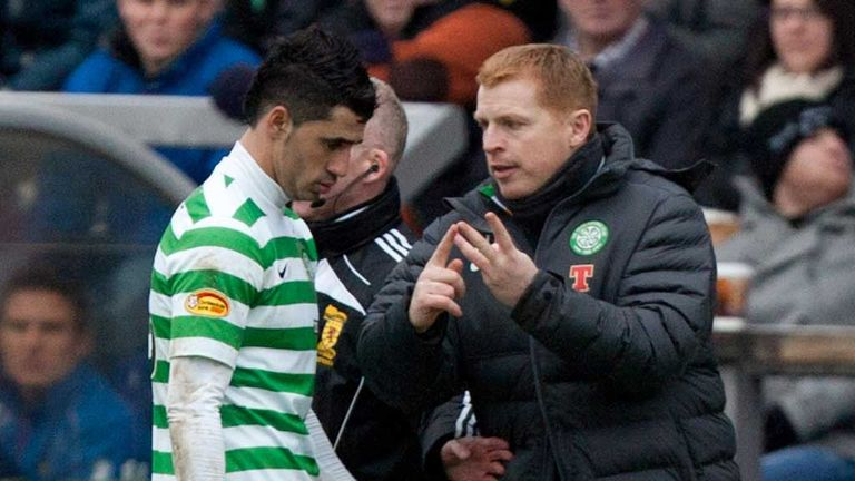 Neil Lennon: Celtic manager gives out instructions on the touchline at Inverness