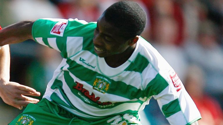 Jonathan Obika: Pictured during a previous loan spell with Yeovil