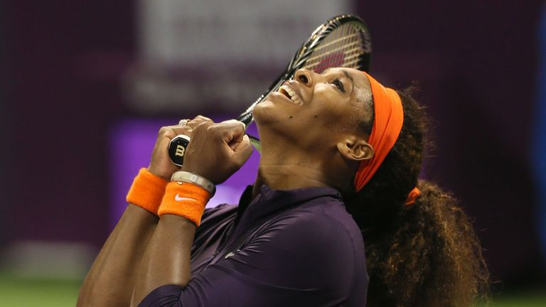 Serena Williams: Broke Chris Evert's long-standing record in Doha