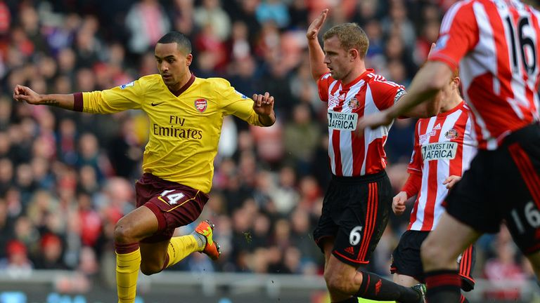 Theo Walcott: A hand in the goal at Sunderland