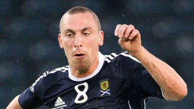 Scott Brown: Handed the Scotland armband for the win over Estonia