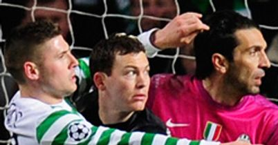 Stephan Lichtsteiner: Holds off Gary Hooper