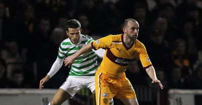 James McFadden: In action against Celtic.
