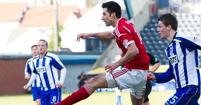 Rory Fallon: Opens the scoring at Rugby Park