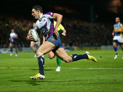 Billy Slater scored the opening try for Melbourne
