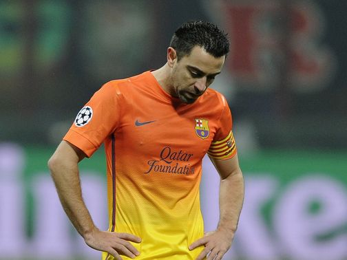 Barcelona slumped to a 2-0 defeat at AC Milan on Wednesday night