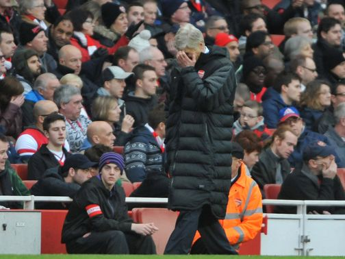 Arsene Wenger can't hide his frustration.