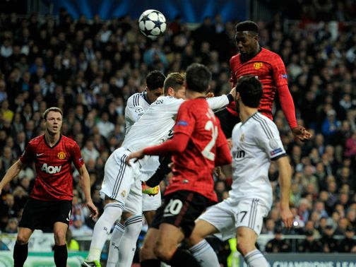 Danny Welbeck heads Manchester United into the lead