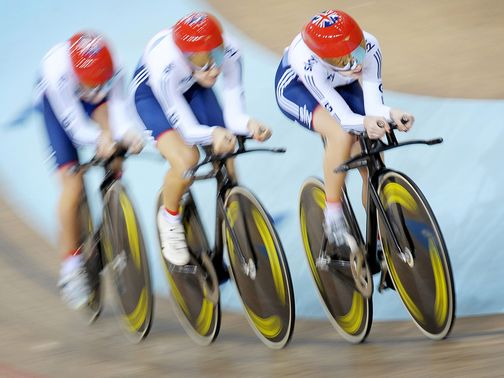 Laura Trott, Dani King and Elinor Barker: Won gold